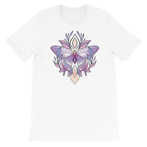 V3 Sacred Butterfly Unisex T-Shirt Featuring Original Artwork By Abby Muench