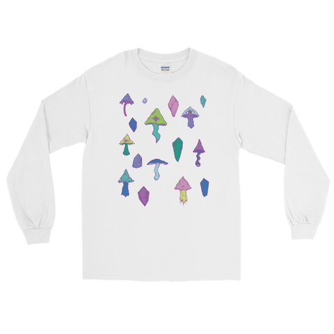 V1 Mushroom Unisex Long Sleeve Shirt Featuring Original Artwork by Intothavoid