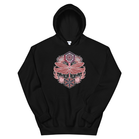 V8 Sacred Dragonfly Unisex Sweatshirt Featuring Original Artwork By Abby Muench