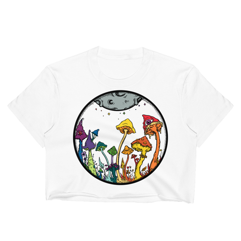 Rainbow Fairy Garden Crop Top (Unhemmed Bottom)