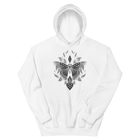 V6 Sacred Butterfly Unisex Sweatshirt Featuring Original Artwork By Abby Muench