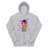 V7 Orchid Faerie Unisex Hoodie Featuring Original Artwork by Fae Plur Designs