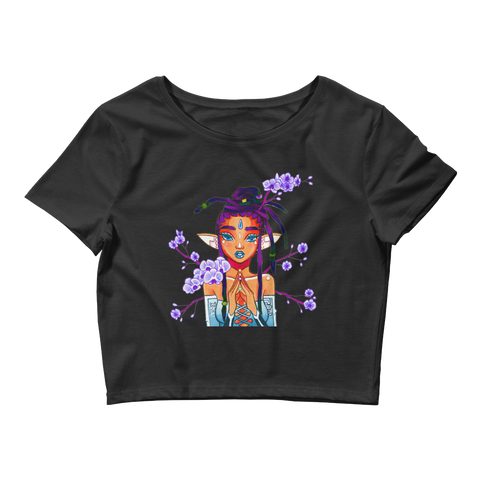 V7 Orchid Faerie Crop Top Featuring Original Artwork by Fae Plur Designs