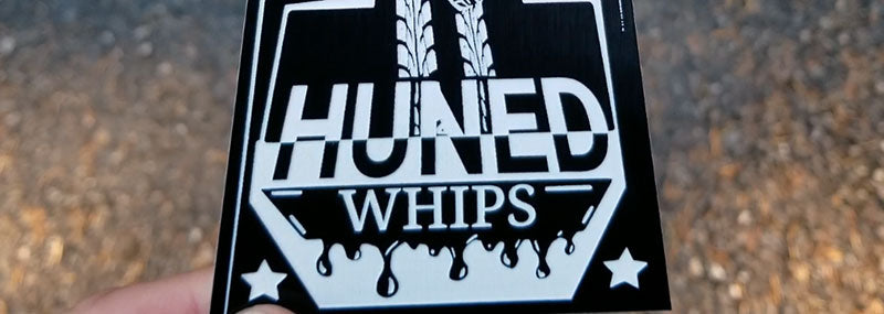 1 Huned Whips Car Club Badge