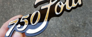 Custom Motorcycle 750Four Emblem Reproduction