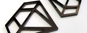 Black Diamond Wireframe Emblems
