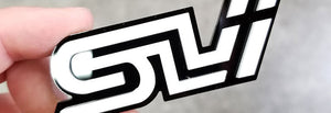 SLI Badge Made From Black and White Acrylic