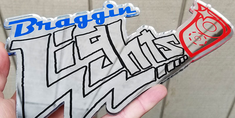 Braggin Lights Chrome Grill Emblem