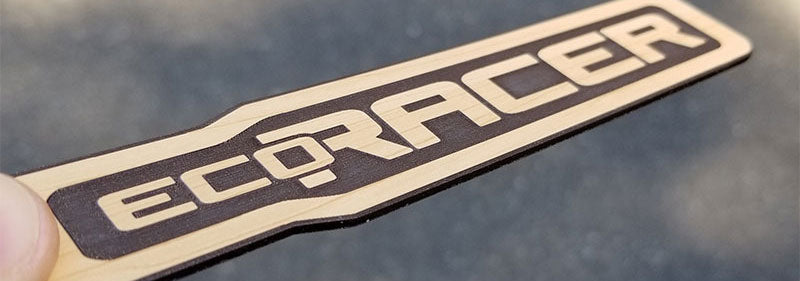 EcoRacer Wood Car Emblem
