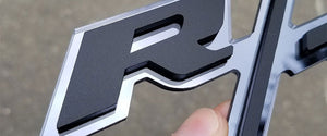 Custom Matte Black and Black Chrome R/T Emblem