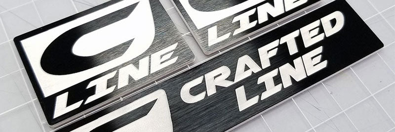 Custom Crafted Line Satin Black Emblem Set