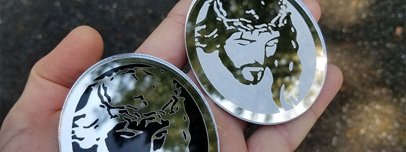 Chrome Jesus Badges