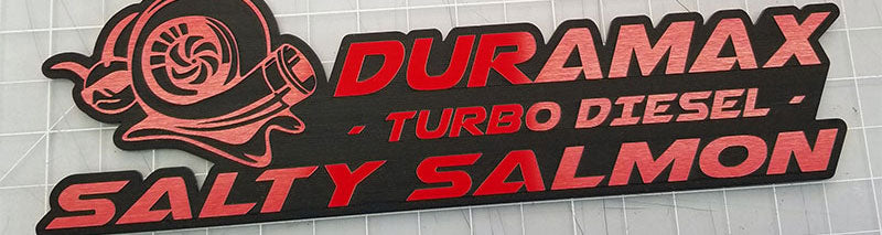 Salty Salmon Turbo Diesel Emblem