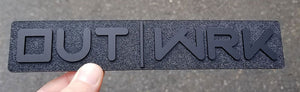 Custom Matte Black & Textured Inlay OUT|WRK Emblem