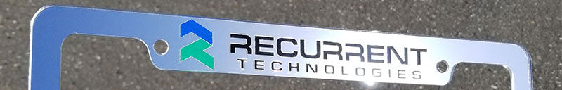 Recurrent Technologies License Plate Frame