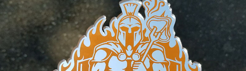 Weekend Warrior BBQ Chrome & Orange Emblem
