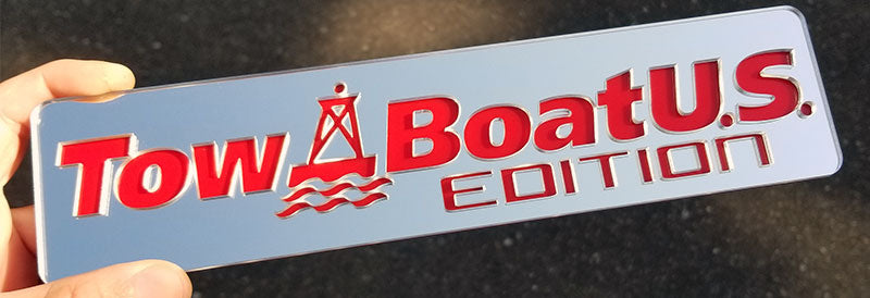 Tow Boat U.S. Edition Embossed Emblem