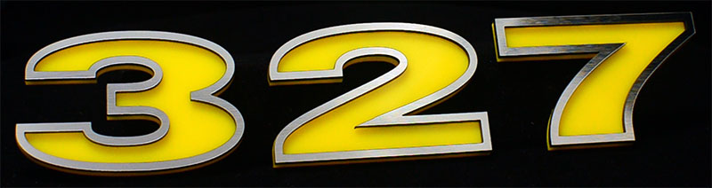 327 Engine Displacement Emblem