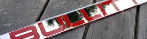 Bullitt Red Chrome License Plate Frame