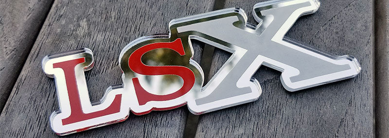 Chrome LSX Emblem
