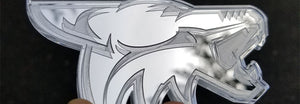 Chrome Coyote Emblem
