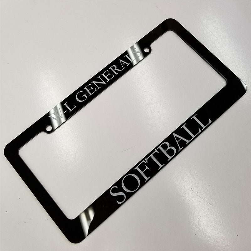W-L Generals Softball License Plate Whole Frame