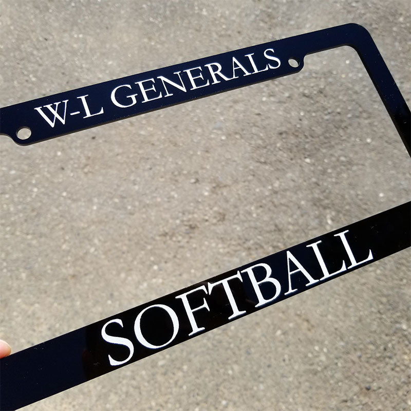 W-L Generals Softball License Plate Frame