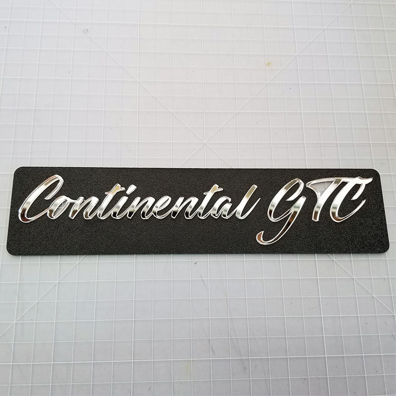 Continental GTC Chrome Badge
