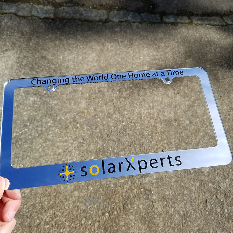 SolarXperts license plate frame