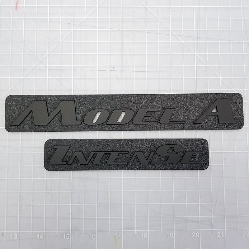 Model A Intense matte black emblems