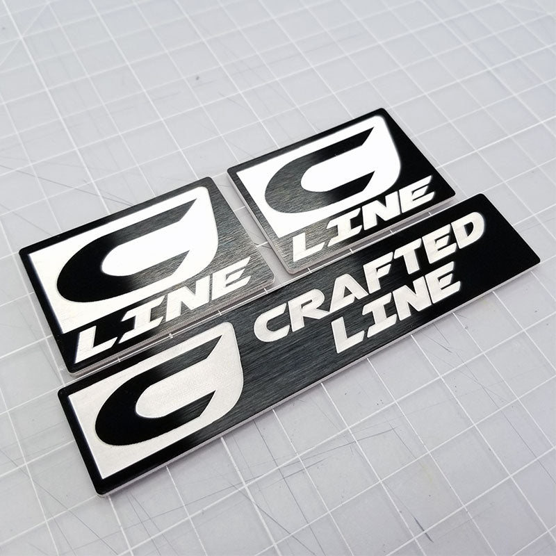 custom made crafted line emblem set