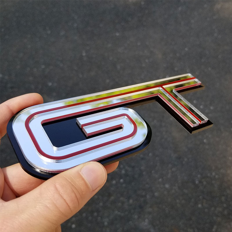 chrome red gt badge