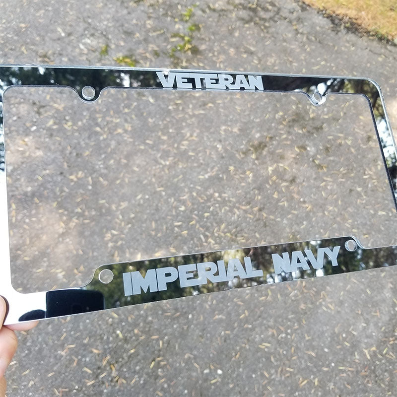 custom veteran license plate frame