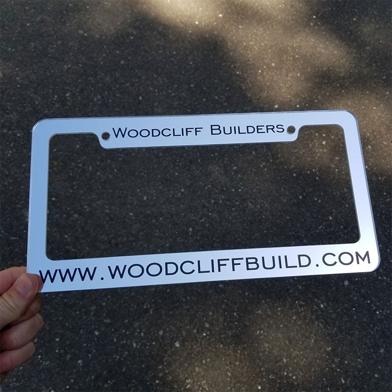 custom website license plate frame