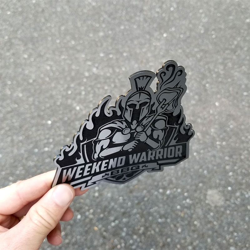 Weekend Warrior BBQ Emblem Side view