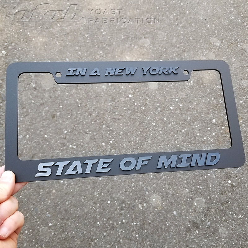 In a New York State of Mind License Plate