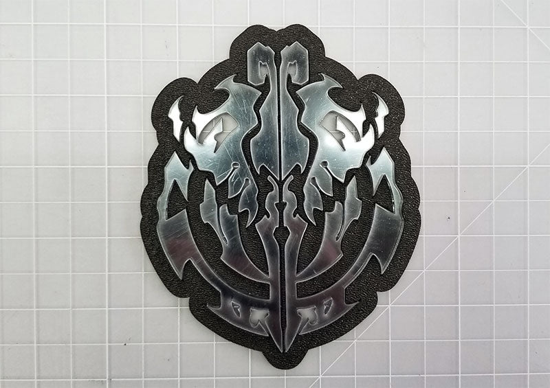 Emblem placed inside template