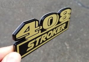 Custom stroker car badge