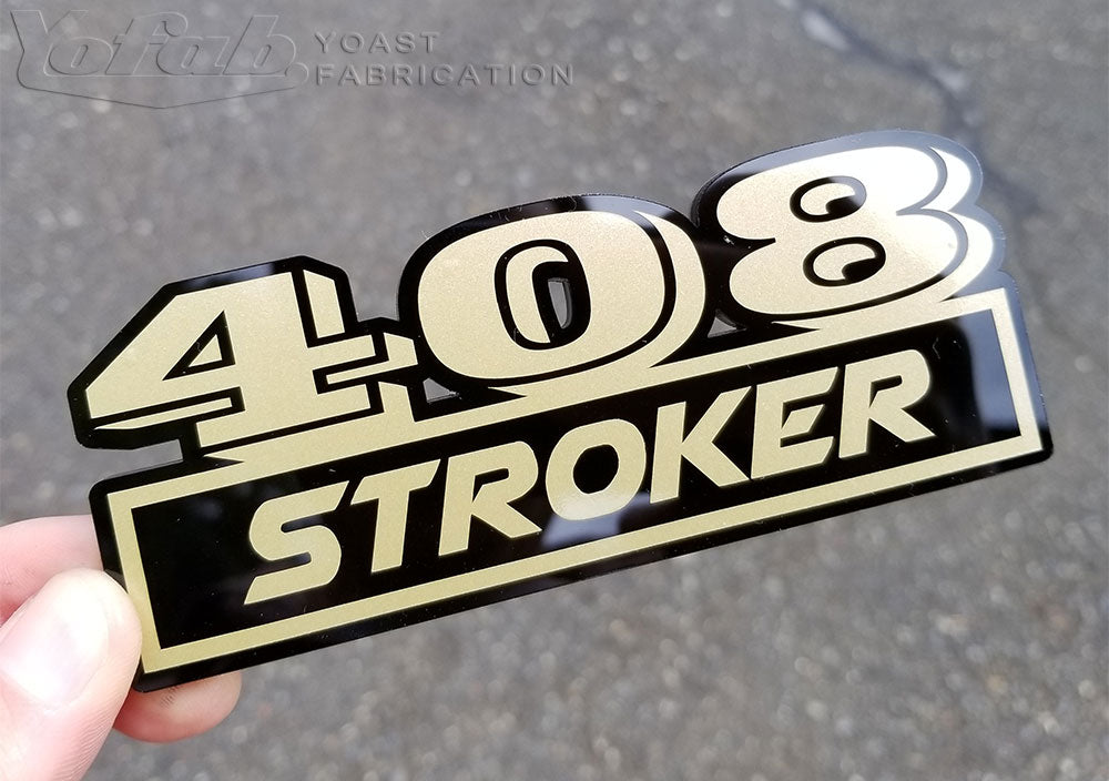 Custom car badge 408