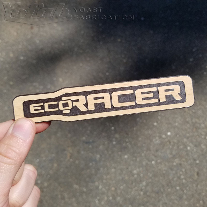 Eco-Racer wood emblem