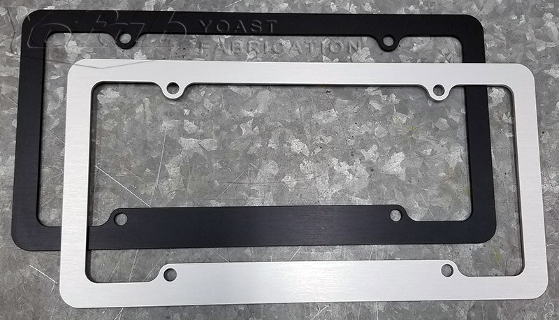 billet aluminum license plate frames