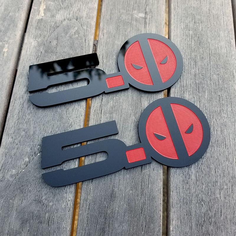 Custom Solid Color Emblems with Engraving