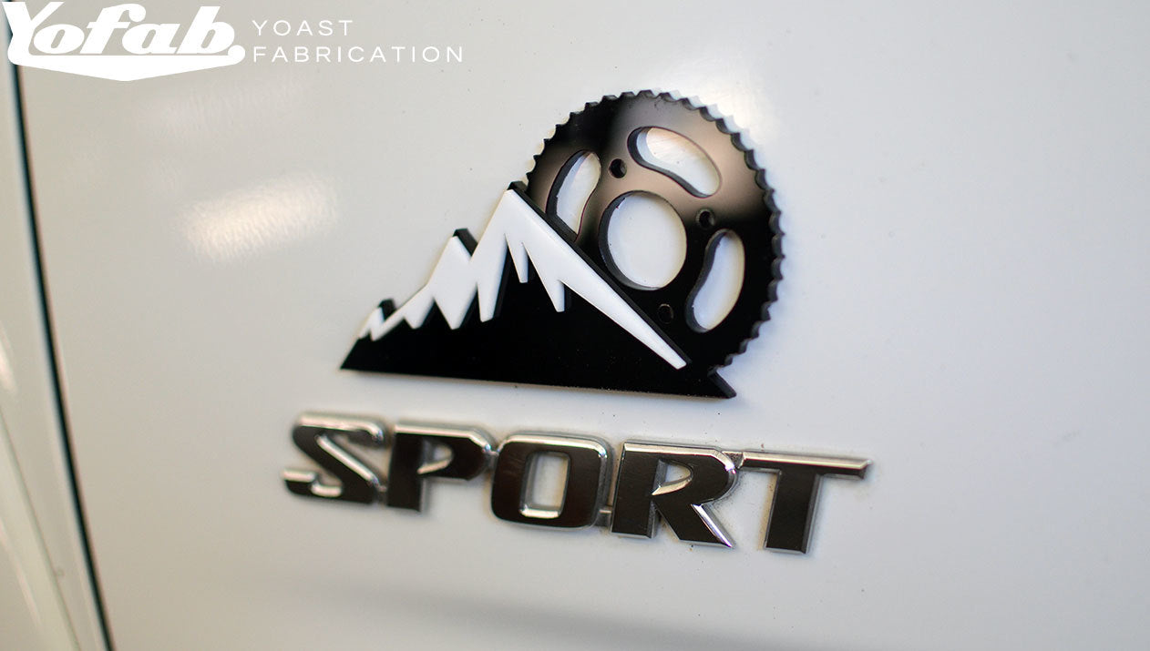 Mountain Bike Emblem Installed on truck