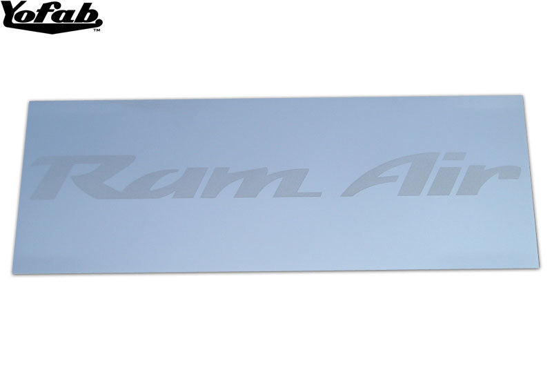 Ram Air polished stainless air lid plate