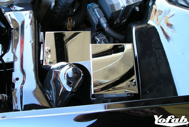 "Polished Stainless Camaro & Firebird ""Two Piece"" Fuse Box Cover Installed"