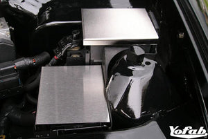 "Brushed Stainless Camaro & Firebird ""Two Piece"" Fuse Box Cover"