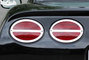 97-04 Corvette Tail Lights Stainless Trim