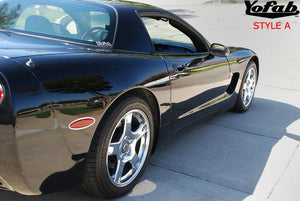 YF083 Style A - Stainless Corvette Side Marker Trim