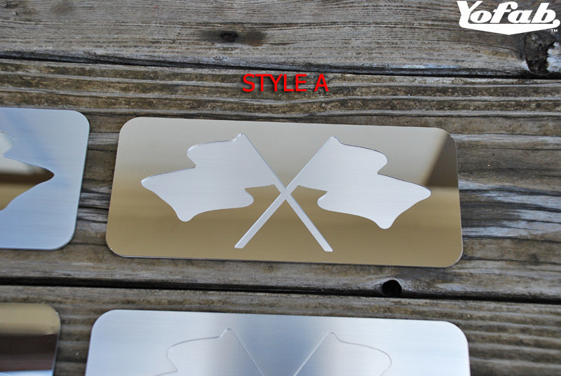 Style A: Crossflag Cutout, Polished over Brushed