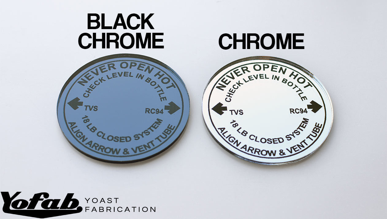 Chrome vs Black Chrome Radiator Cap